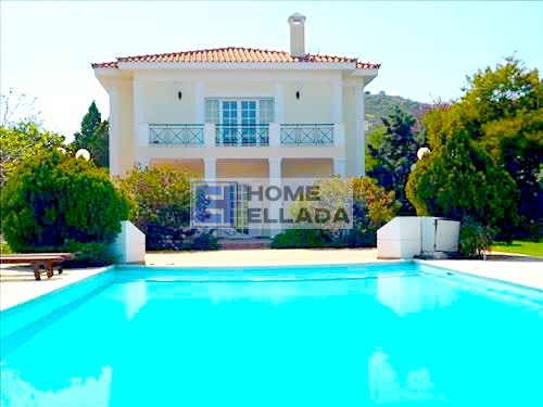 Villa in Athens - Vari with pool and basketball court