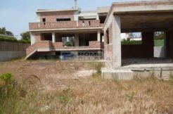 Участок купить в Греции с недостроенным домом