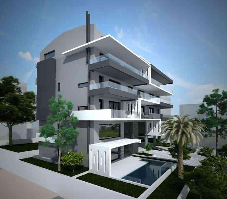 特卖 - 海边公寓,带游泳池和花园 雅典-瓦尔基扎